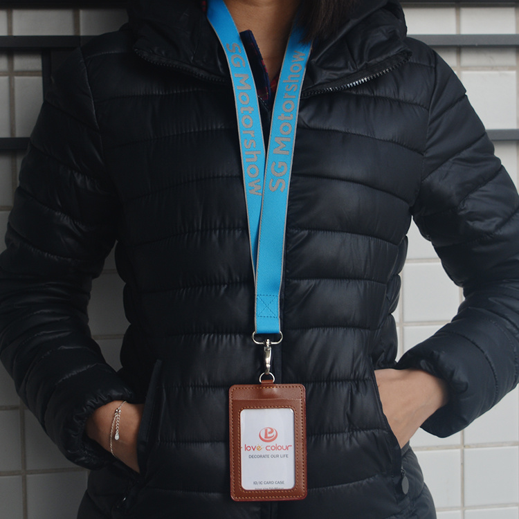 Advertising Strap ID Holder Lanyards Custom Nylon Design