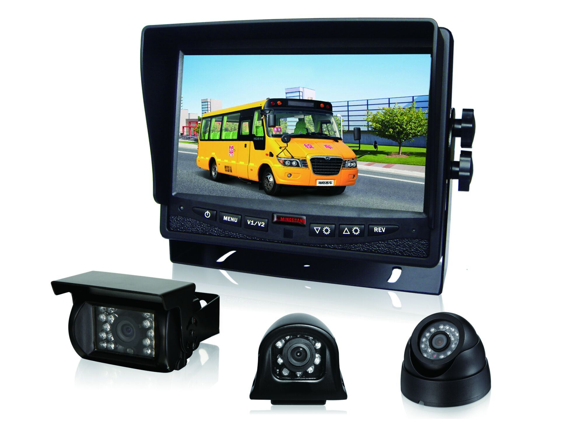 7inch Heavy Duty 24V CCD Bus/Truck Rear View Camera System