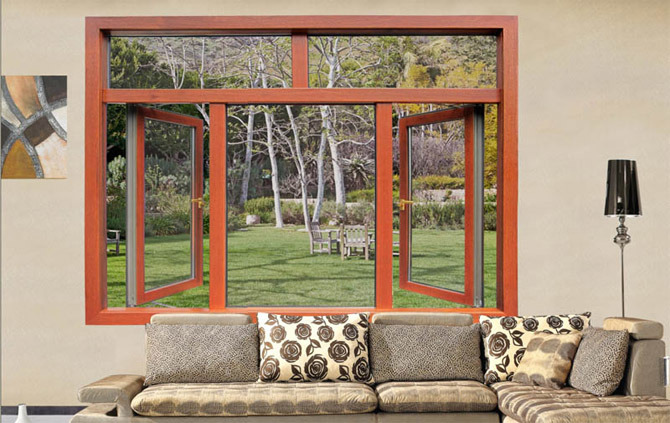 Woodwin Hot Seller Customized Style Double Tempered Glass Aluminium Window