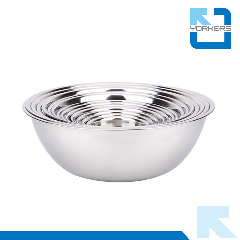Original Color Stainless Steel Mixing Bowl Set Cookware Set