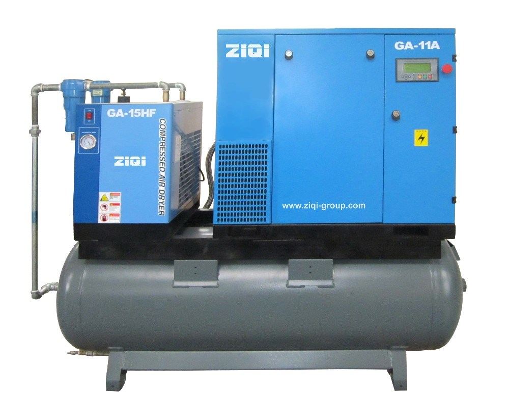 11kw Compact Screw Air Compressor with Tank