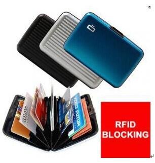 RFID Blocking Alumunim Credit Card Holder Wallet