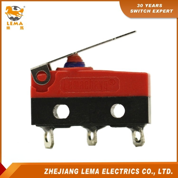 Lema Kw12f-1 Waterproof IP67 Short Lever Micro Switch
