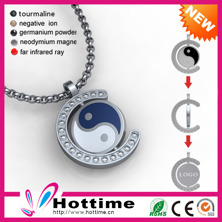 High Quality Stainless Steel Pendant for Gift with Magnetic Stone