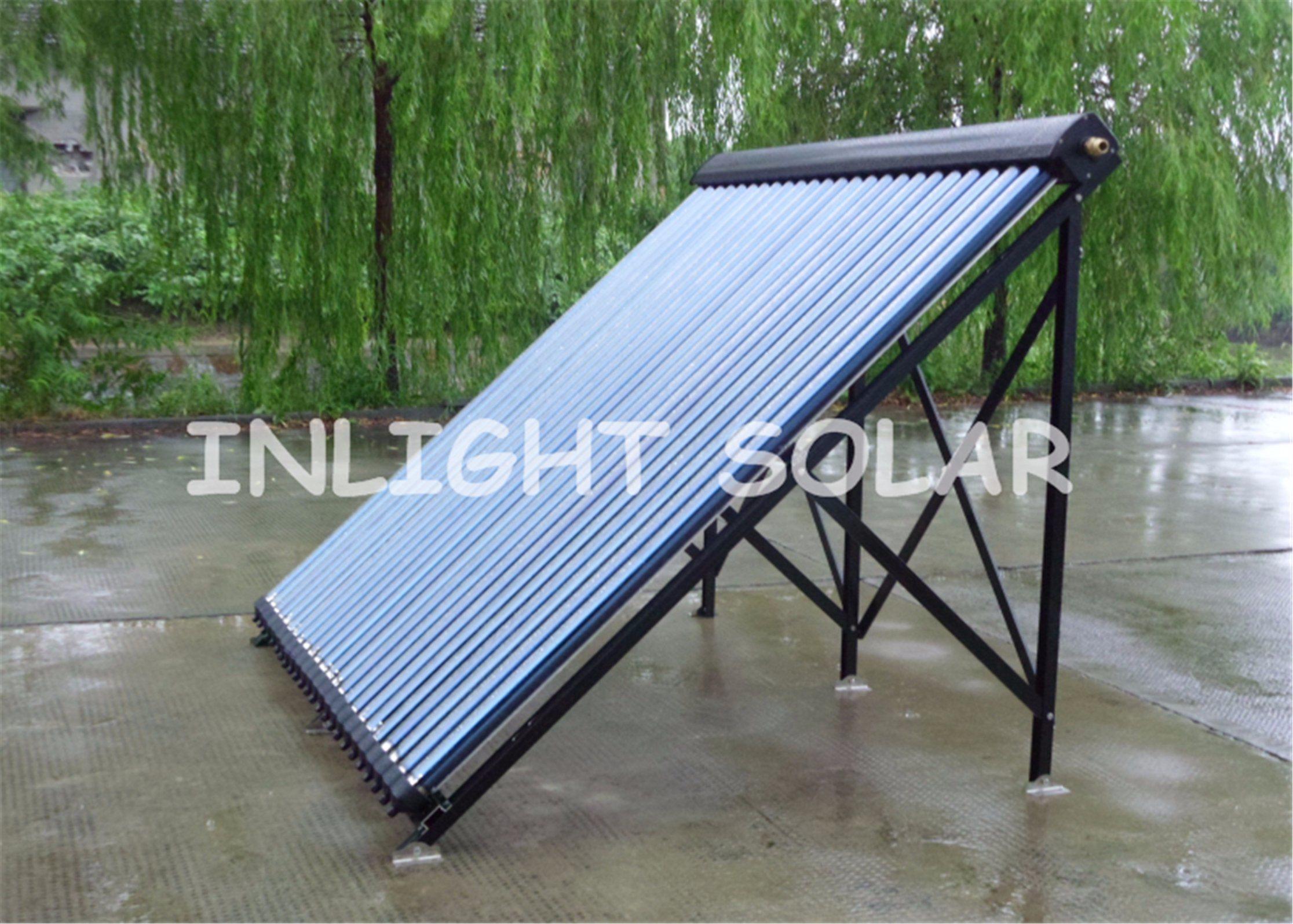 24tubes Aluminum Alloy Heat Pipe Solar Collector