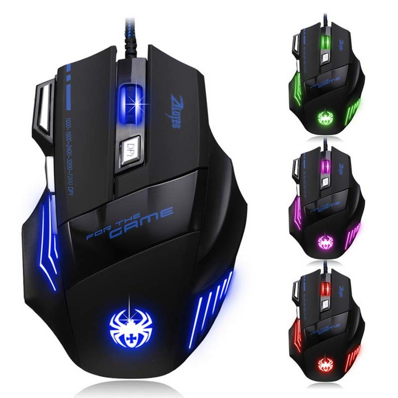 Creative Dpi 7 Key USB Wired Computer Gift Game Mouse