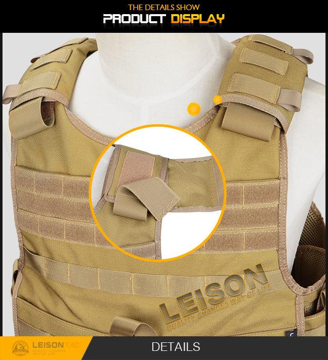 Ballistic Vest Kevlar or Tac-Tex and Bullet Proof Vest Has Passed USA HP Lab Test