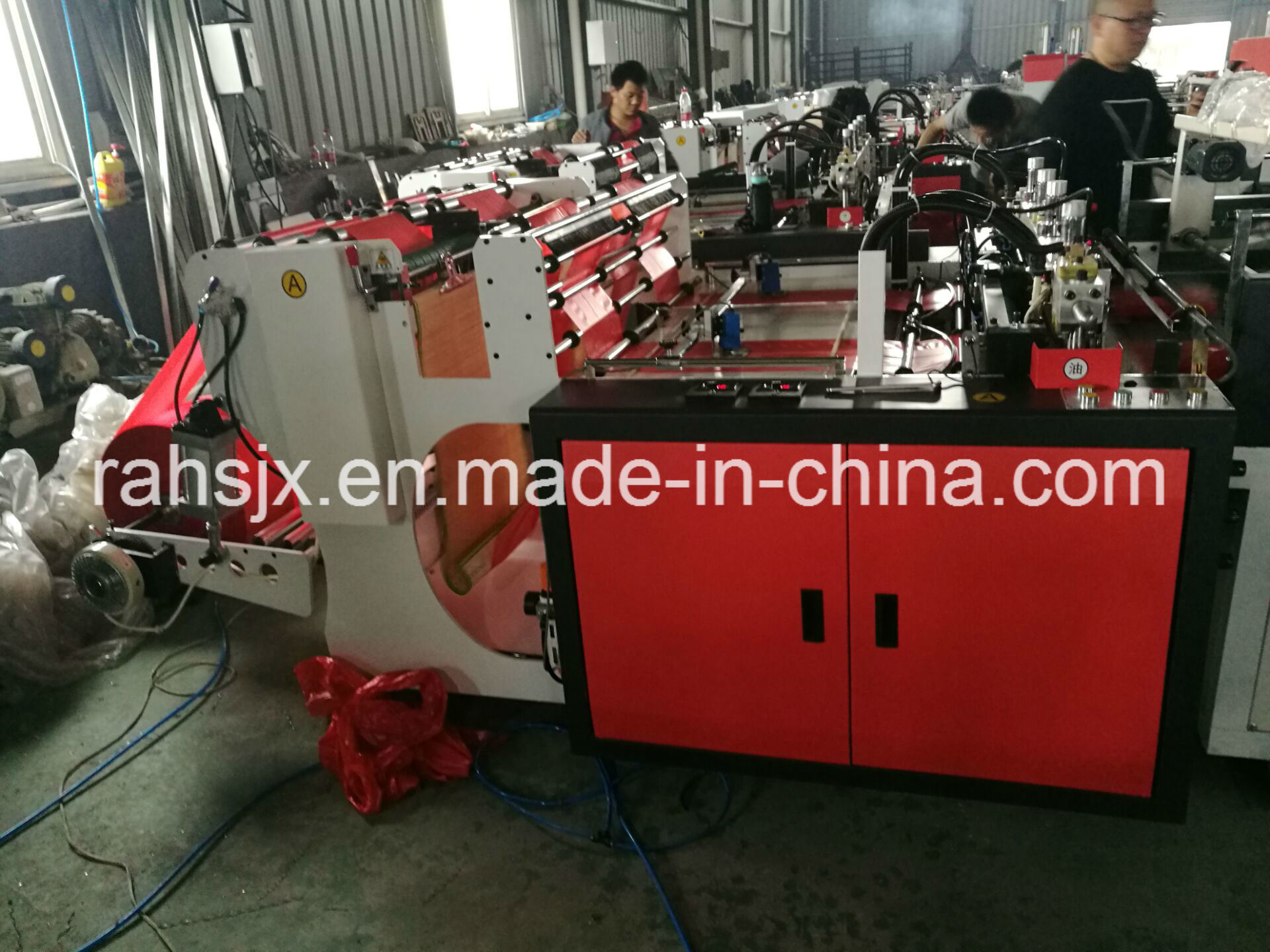 Automatic Double Line T-Shirt Bag Cutting Machine (HSRQ-450X2)