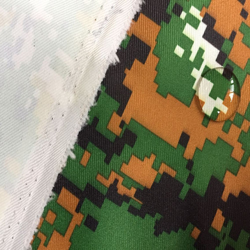 Camouflage Printed Taslon with PU Coated for Military Uniform