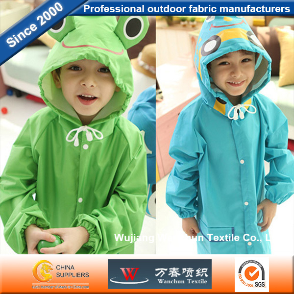 Taffeta PVC Polyester Fabric Waterproof for Children Raincoat