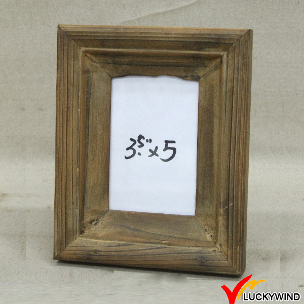 Rectangle Vintage Brown Table Stand Photo Frame Wooden