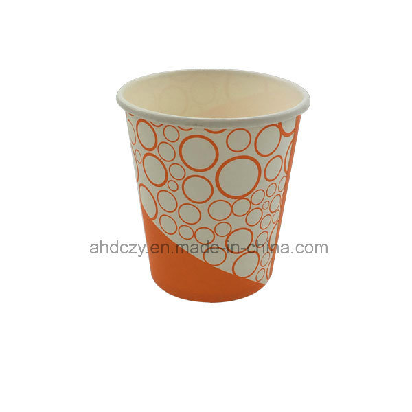 6.5oz Welcomed Custom Single Wall Paper Cup for Drink
