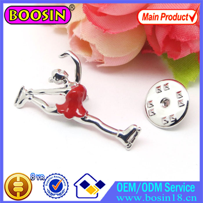 China Wholesale Cusotm Dancing Girl Gymnastics Pin Brooch #51173
