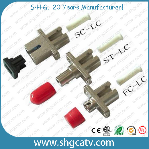 Sc FC LC St Mu MTRJ Fiber Optical Adaptor