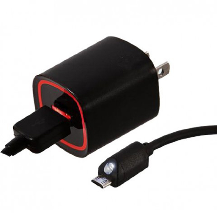 Black/White QC2.0 Wall Charger with USB Cable for America Verizon