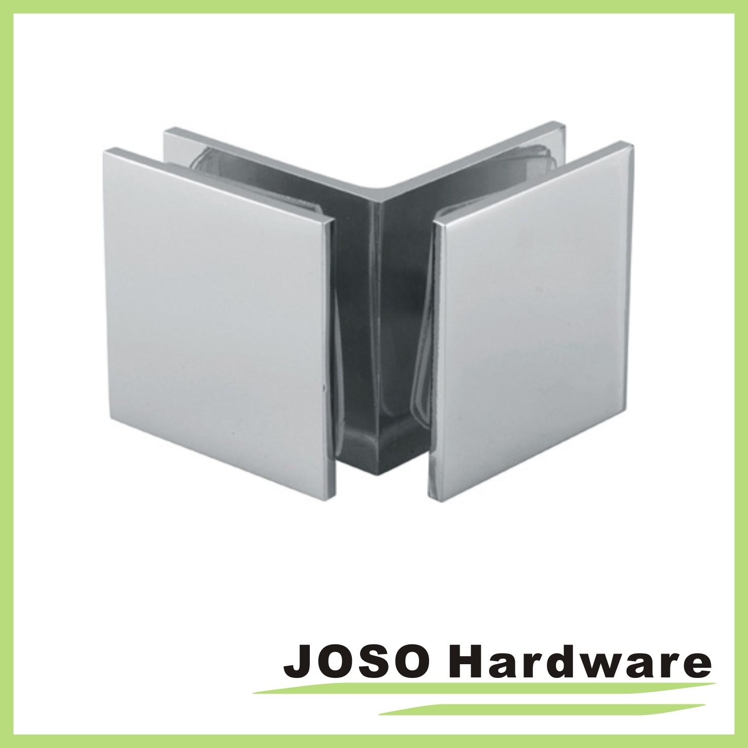 Shower Glass Fixed Chrome Square Glass Clamp (BC201)