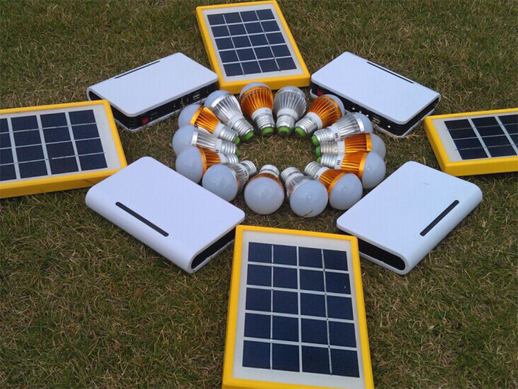 Solar System LED Light Kits with 2PCS 1W LED Bulbs/ USB Charger