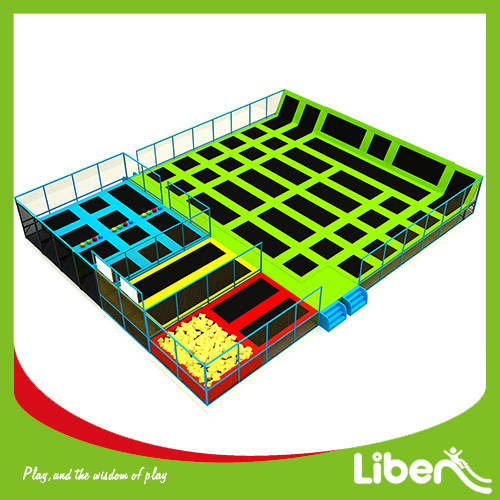 Customized Design Liben Indoor Trampoline Park with Basketball Hoops