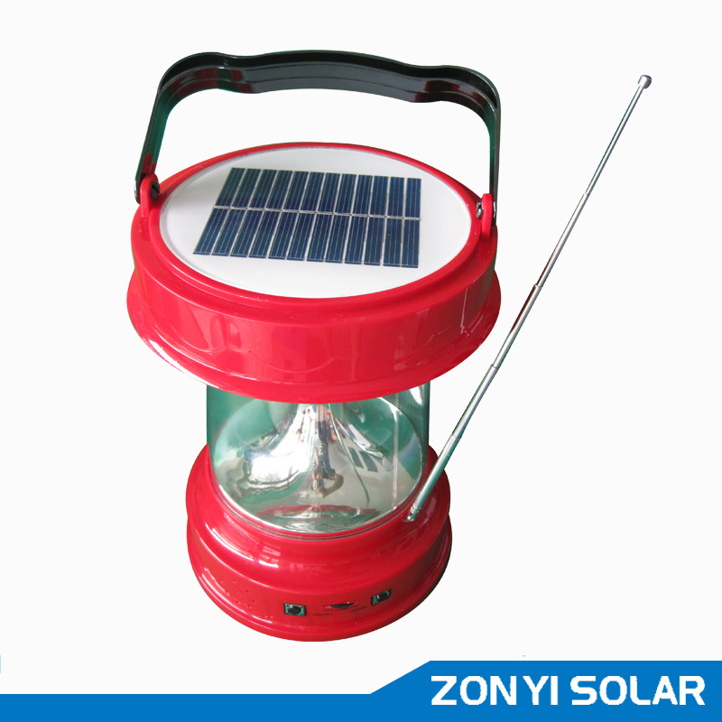Solar Lantern (solar camping light) with Radio (ZY-03E)