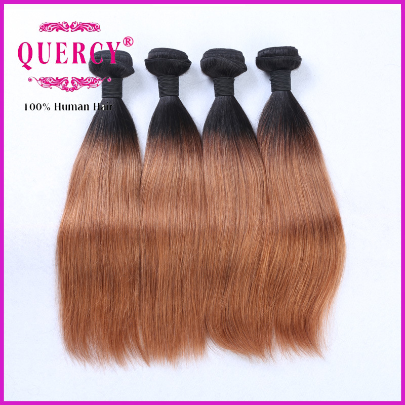 2016 Hot Sale Brazilian Omber Colour Hair Weft, 8-32 Inch Natural Virgin Human Hair