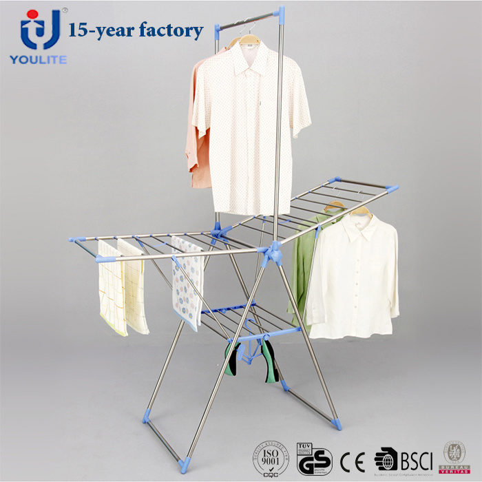 Stainless Steel Foldable Multi-Purpose Coat Drying Rack