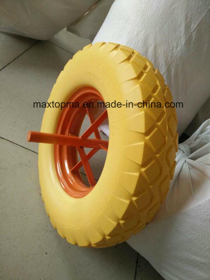 Maxtop Rubber Flat Free PU Foam Wheel