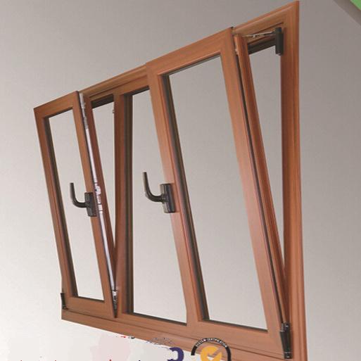 Wooden Grain Aluminium Titl Awning Window (TS-1032)