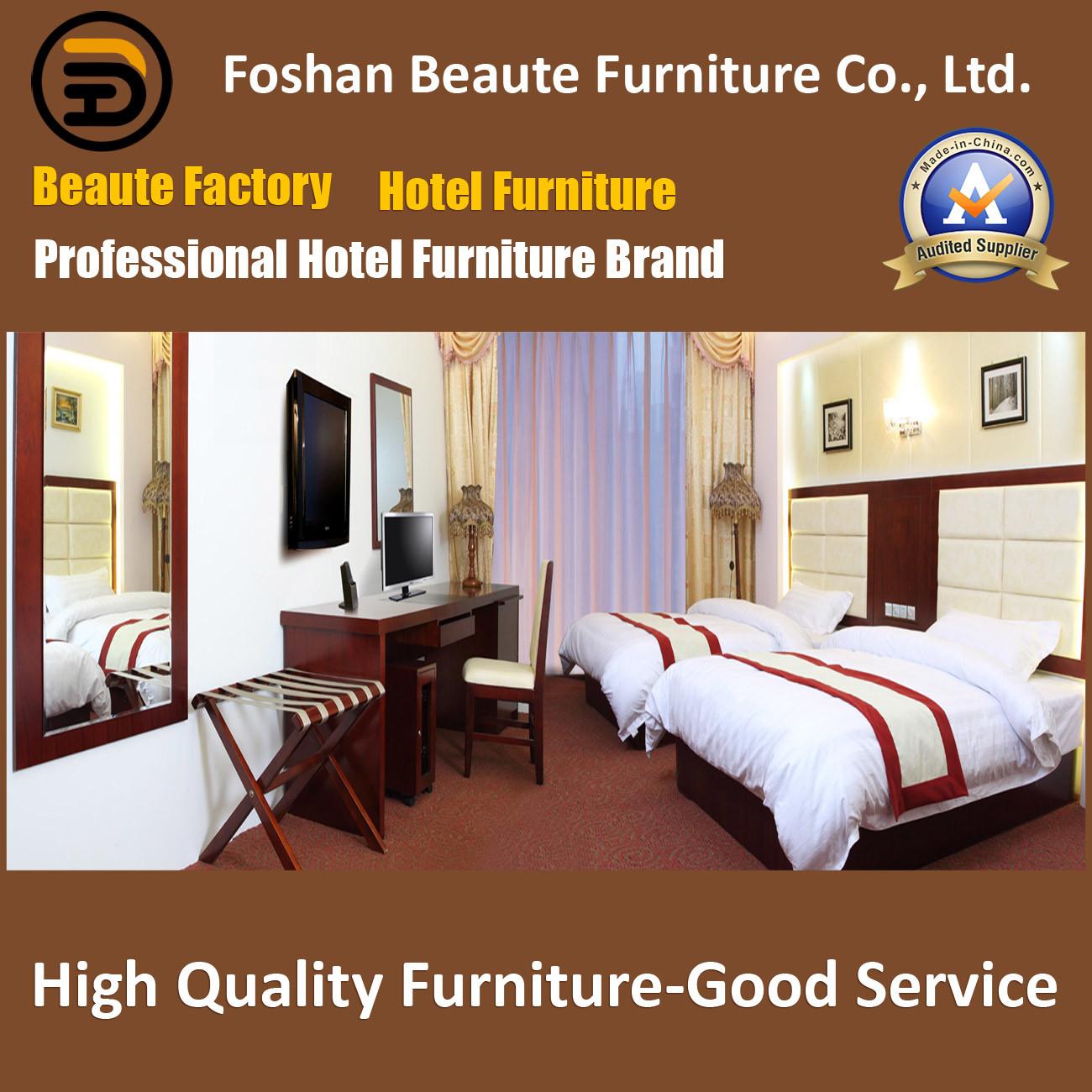 Hotel Furniture/Luxury Double Bedroom Furniture/Standard Hotel Double Bedroom Suite/Double Hospitality Guest Room Furniture (GLB-0109856)