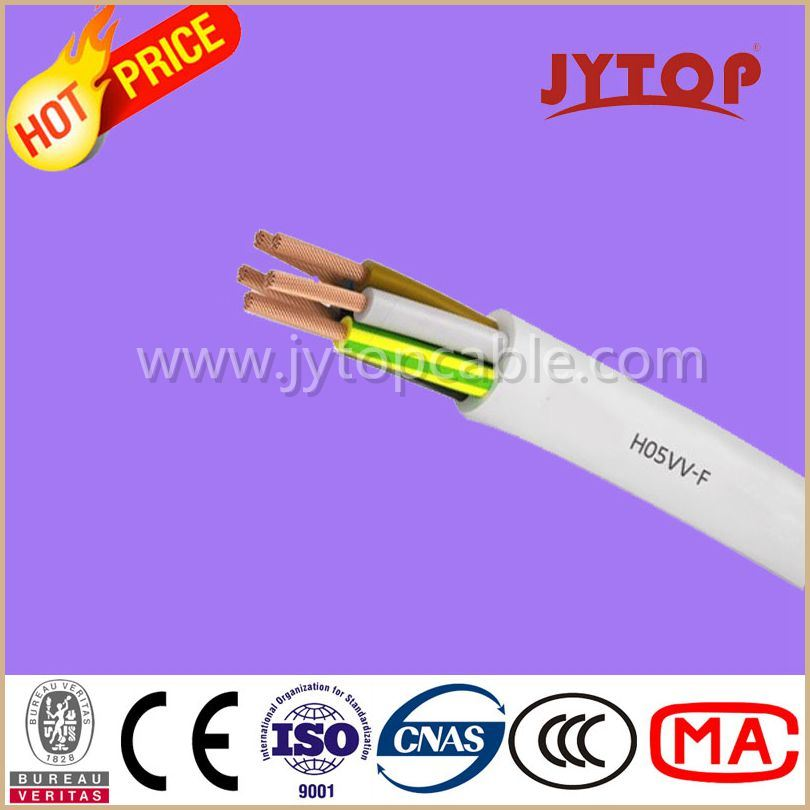 H05VV-F (TTR) Copper Wire, PVC Insulated Multi-Core Cables with Flexible Copper Conductor