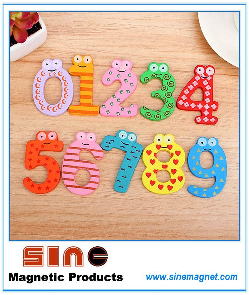 Wooden Fridge Magnet Education Learn Cute Toys