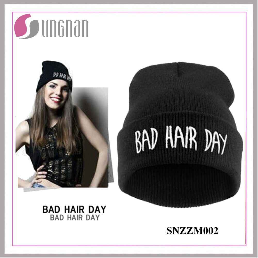 2015 Fashion Beanie Hat Hiphop Acrylic Knitted Cap (SNZZM002)