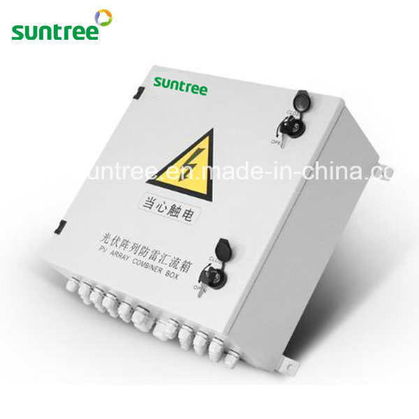 4-16 Strings PV Array with Lighting Protection Solar PV DC Combiner Box