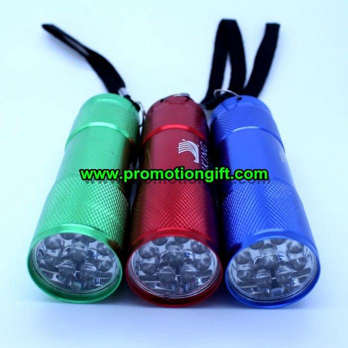 Aluminum 9 LED Flashlight