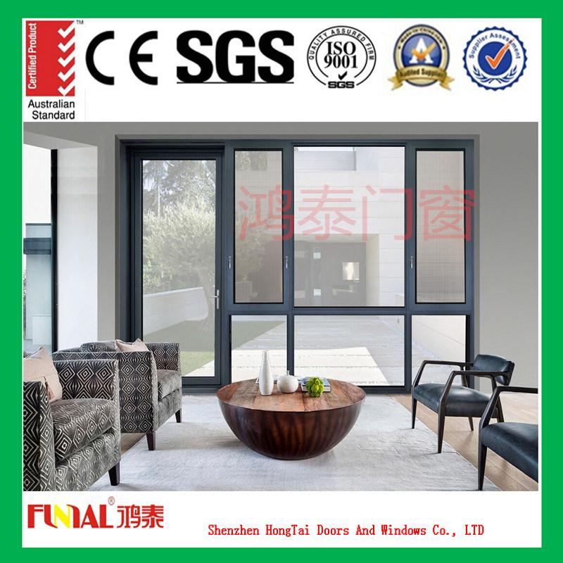 Double Glazing Aluminum Window with Aluminum Mosquito screen