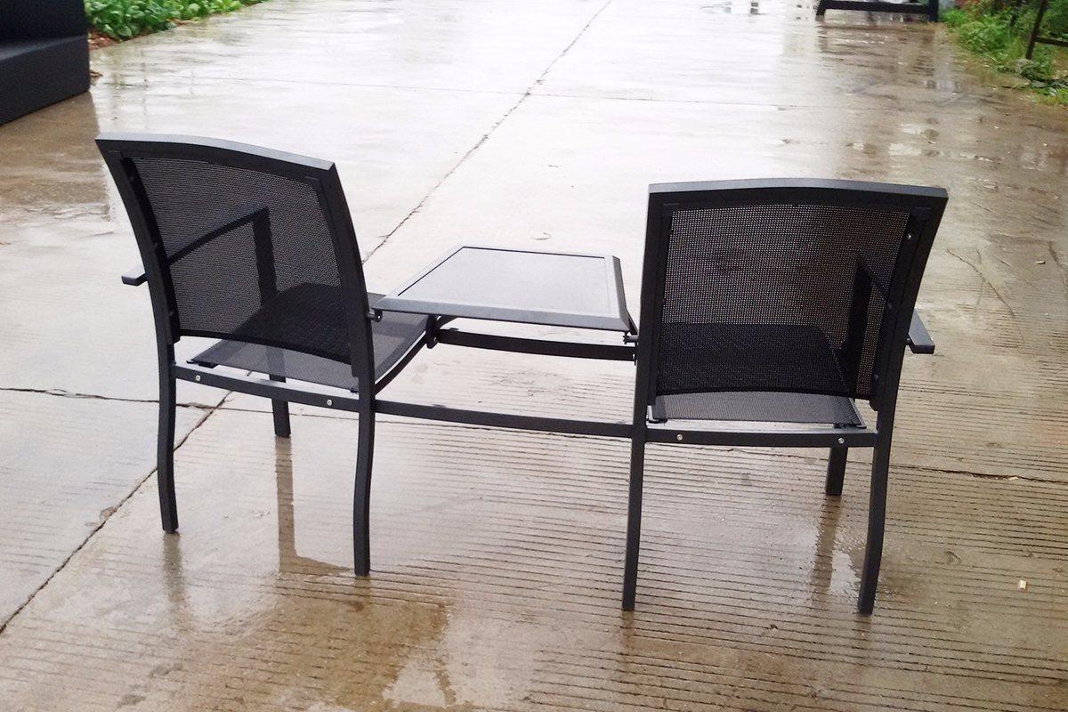 Outdoor Patio Garden Hotel Home Office Restaurant Texilene Aluminum Dining Chair (JT6592)
