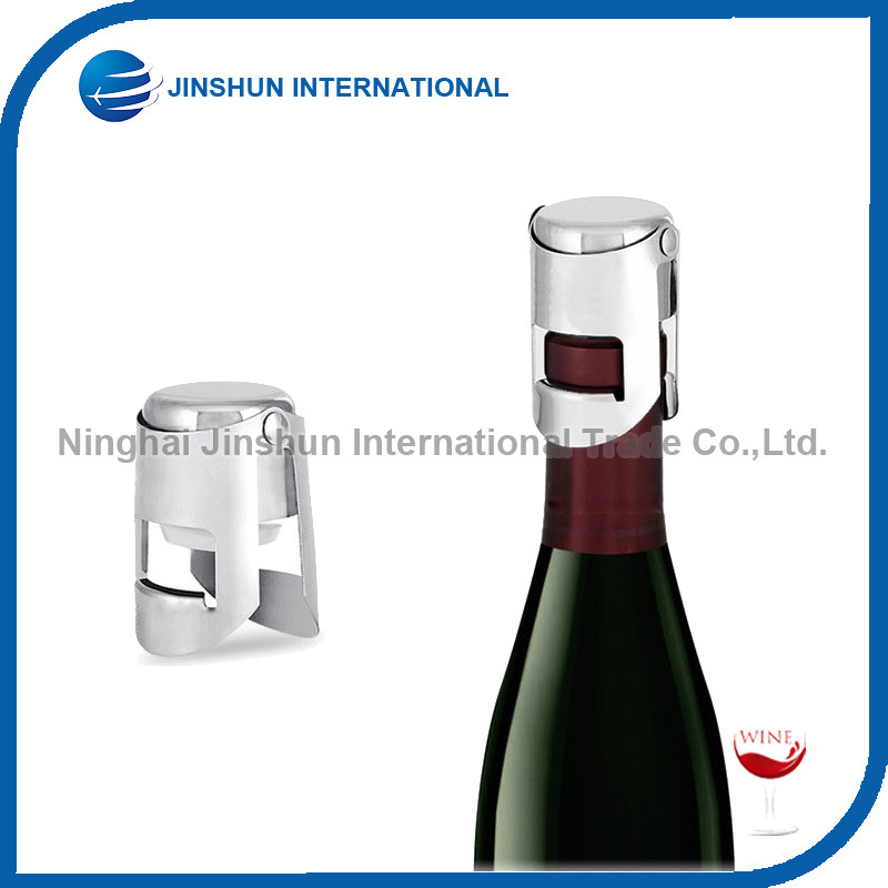 Stainless Steel Vacuum Sealed Wine Champagne Bottle Stopper