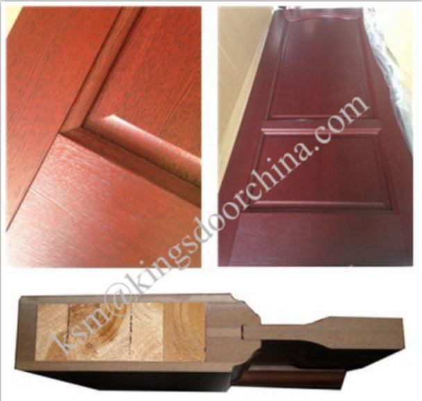 PVC Veneer MDF Wooden Glass Door