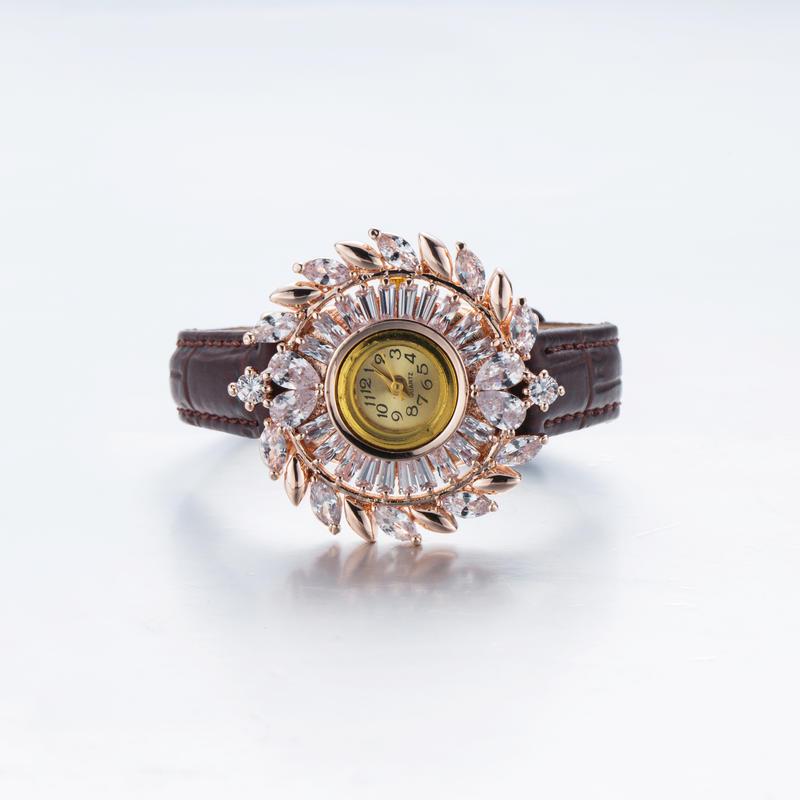 Fashion Silver Ryby Ziccon Bangle Watch Bracelet