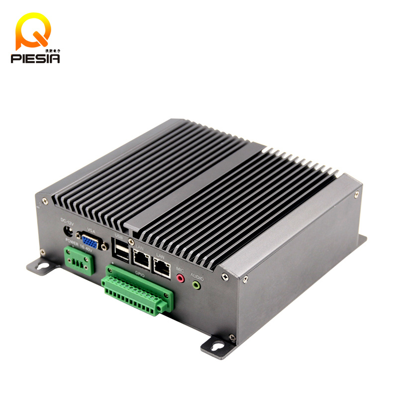 Embedded Thin Client with 6 COM 2 LAN Port Atom D525 Mini PC