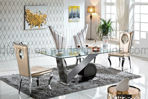 Hotel Furniture Stainless Steel Modern Banquet Dining Chair (B8881)