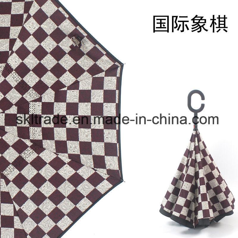 High Quality Portable Handsfree Straight Reverse Inverted Umbrella