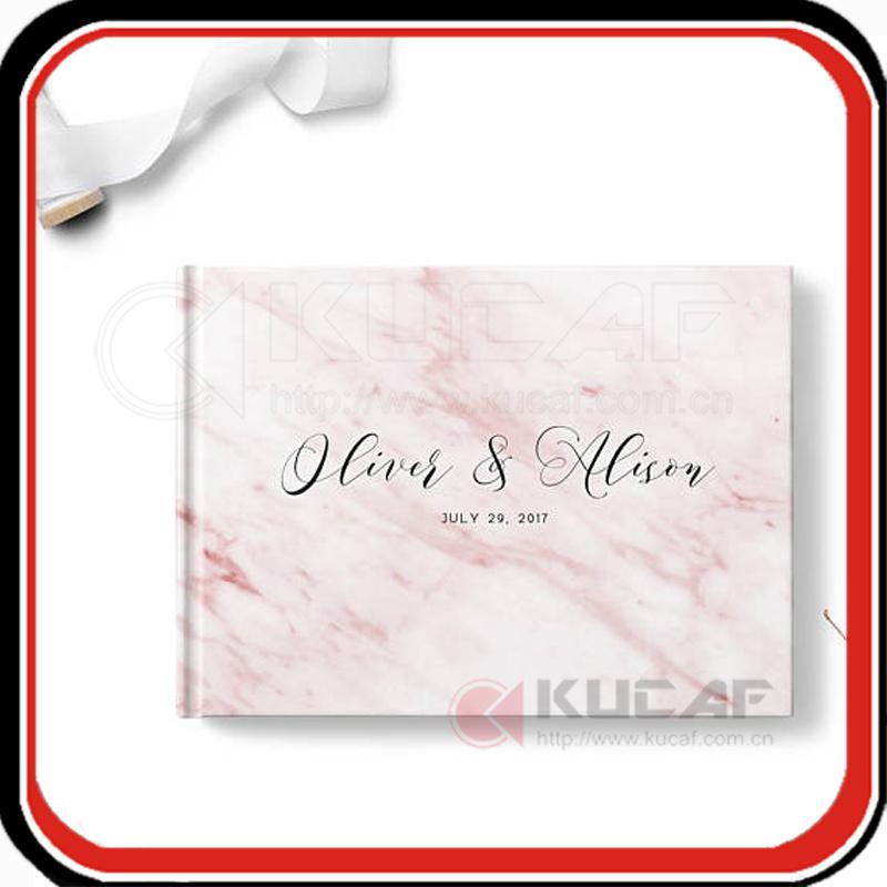 Custom Marble Wedding Book Guest Notebook