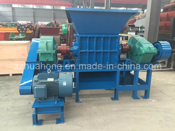 Strong 2 Shaft Shredder, Industrial Waste Tyre Recycling Machine