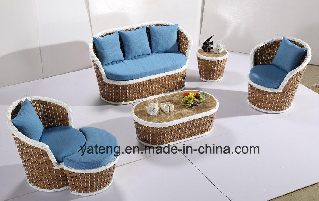 2017new Design Hotel Wicker Patio Garden Furniture Sofa Set Using Outdoor & Garden & Patio (YT1050)