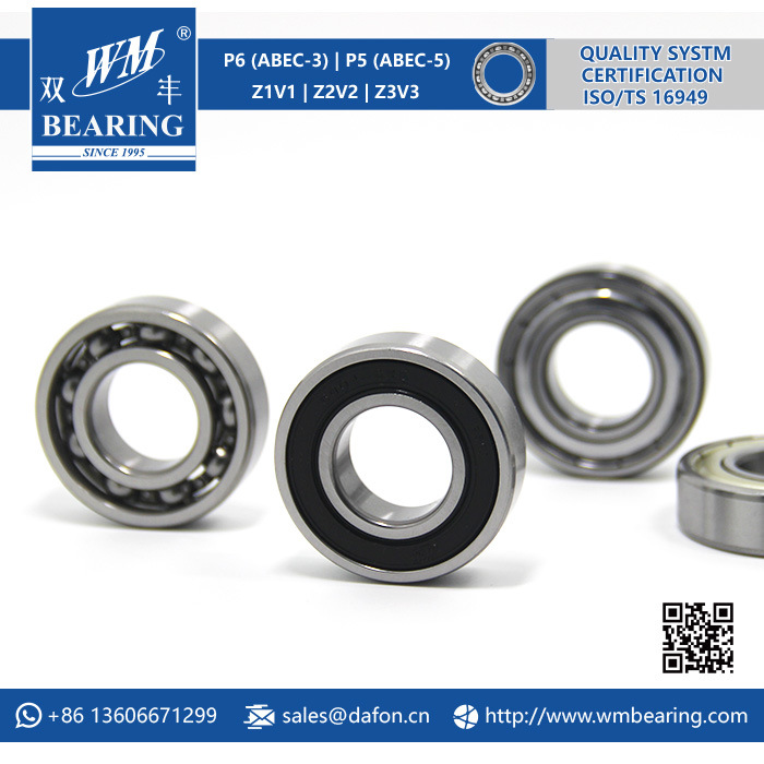 6004 2RS Low Friction Sealed Deep Groove Ball Bearing