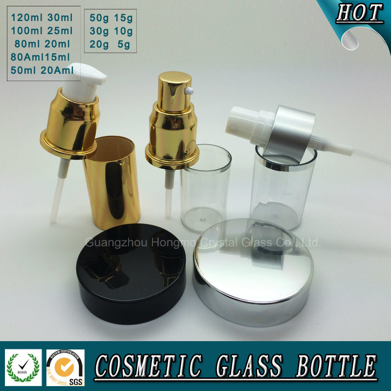 Frosted Glass Cosmetic Bottle and Cream Jar for Skin Care