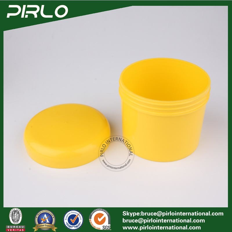 300g 10oz PP Plastic Cosmetic Cream Jar Yellow Color Hair Wax Plastic Jar with Lid Empty Facial Mask Hair Conditioner Jars