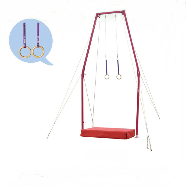 International Standard Gymnastics Equipment Steel Flying Ring for Training