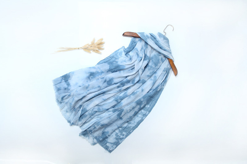 2016 New Fashion Beautifully-Dyed Polyster Lady Scarf