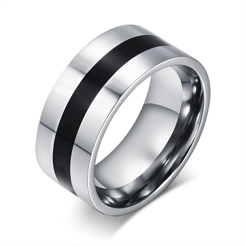 Titanium Stainless Steel Simple Fashion Designer Man Rings Jewelry